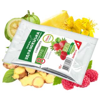"""Кисель витаминизированный сухой """"Здравоешька"""" ягодный 15г"""